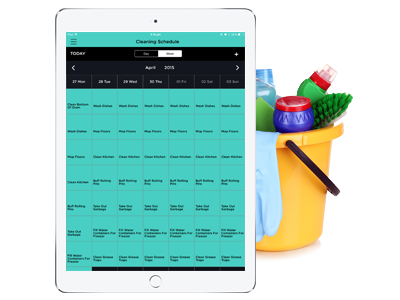 Cleaning and maintenance scheduling by ChefSmart