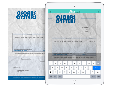 Store photos of invoices, records and forms in ChefSmart